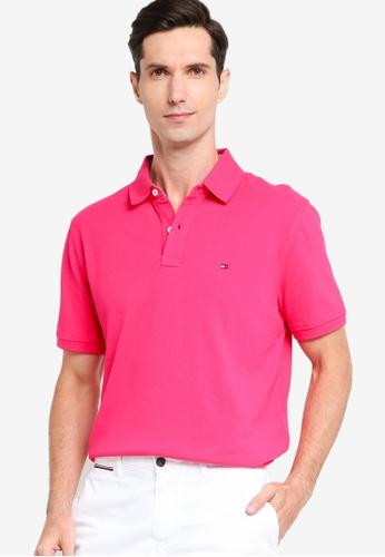 Tommy Hilfiger 粉紅色 Custom Fit Essential Solid Polo Shirt BFFD9AA64277DBGS_1