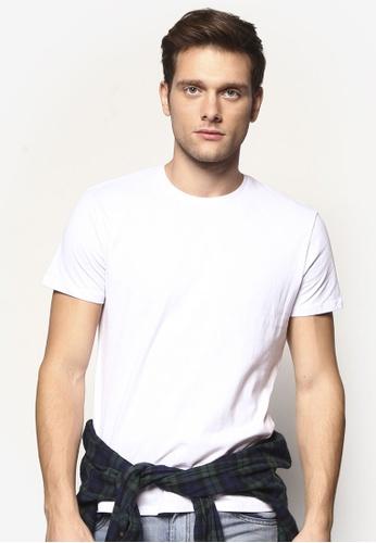 Electro Denim Lab 白色 Brushed Slim T-Shirt EL966AA36UYDMY_1