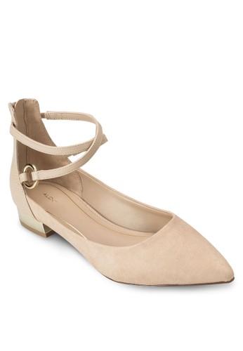 Biacci 尖頭交叉繞踝平底鞋, 女鞋, esprit床組鞋