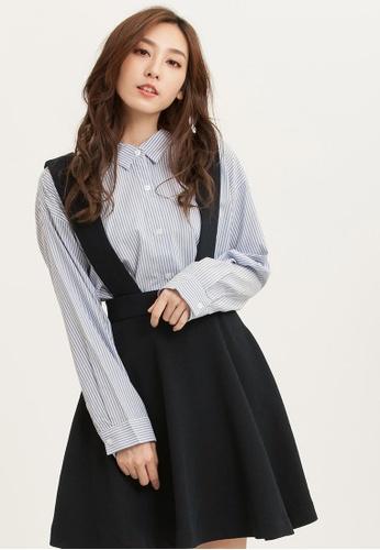 H:CONNECT blue SHARKEE Suspender Mini Dress A64C9AAE29E976GS_1