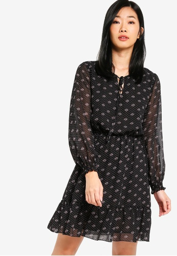 Something Borrowed black Long Sleeves Fit And Flare Dress D8E20AA934E711GS_1