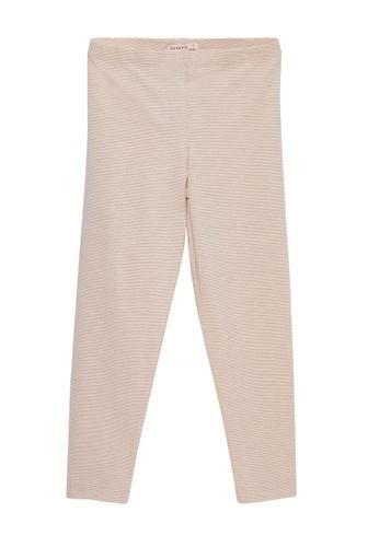 Du Pareil Au Même (DPAM) pink Striped Leggings F1A76KAC80A3B0GS_1