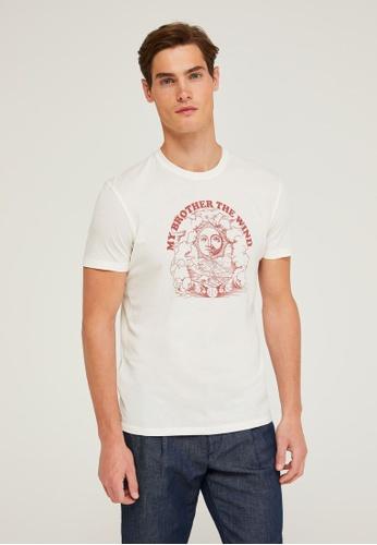 Sisley white Printed T-shirt BFDD9AA000820DGS_1