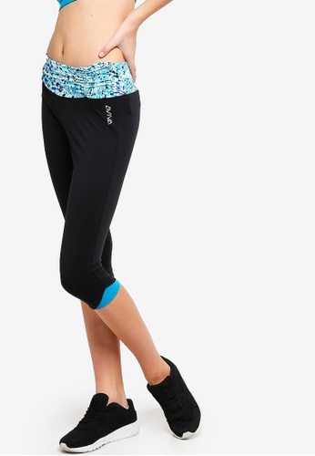 AVIVA black and blue Performance Capri Pants 0176CAA72C8ED2GS_1