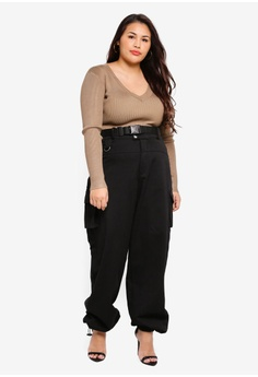 18a182e91a MISSGUIDED Plus Size Seat Belt Cargo Trousers RM 189.00. Sizes 16 18 20 22  24