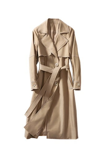Twenty Eight Shoes brown VANSA Contrast Stitch Trench Coat VCW-T9705 0F54FAACE08952GS_1