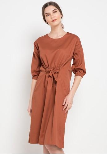 Noche orange Zoe Dress F24FEAA9D47860GS_1