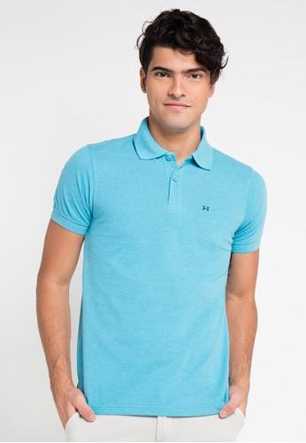 Hassenda blue Short Sleeve HA130AA0VPFBID_1