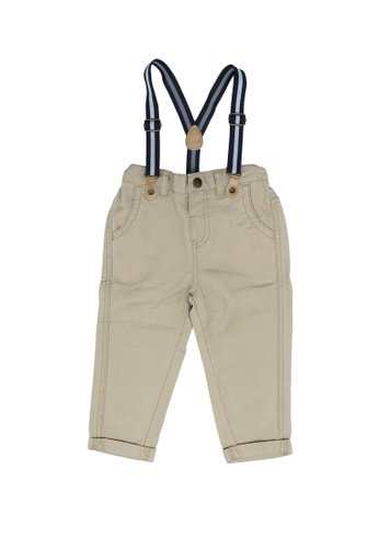 FOX Kids & Baby brown Chinos with Suspenders 0C206KA949113BGS_1