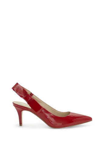 Enzo Angiolini red EN-DONELLE Patent Slingback Pumps With Side Bow 093B7SH95E18A8GS_1