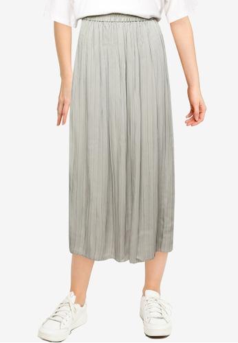 LOWRYS FARM green Pleated Skirt CECDEAAFB32A10GS_1