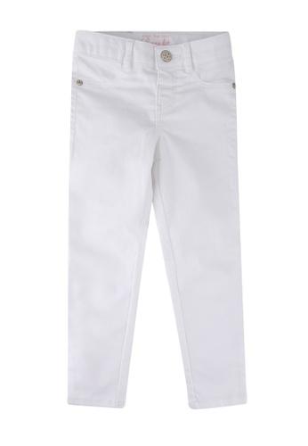 LC Waikiki white Girl's Skinny Gabardine Trousers 03C35KA6EA6A98GS_1