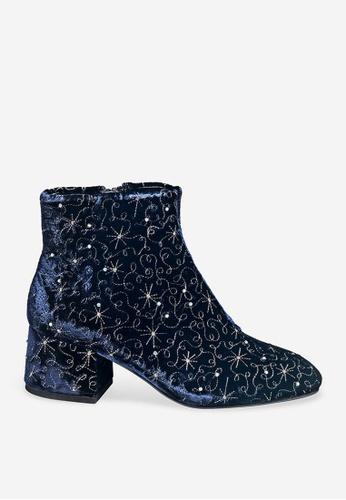 ASH 藍色 Diamond Bis - 藍色人造鑽石靴 736E1SH88B307DGS_1