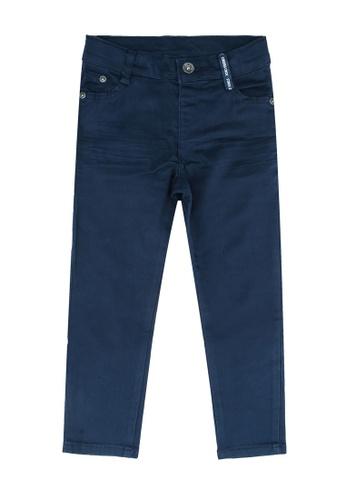 LC Waikiki navy Boy's Super Slim Gabardine Trousers D5692KAA39A4ABGS_1