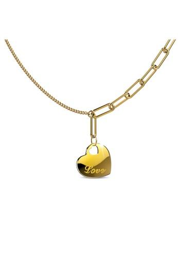 Bullion Gold gold BULLION GOLD Petite Love Gold Layered Necklace BF9CFAC2D77B6AGS_1