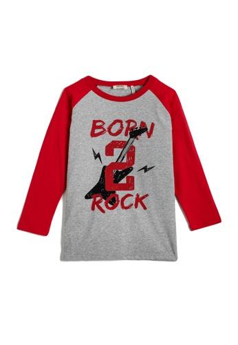 KOTON grey T-Shirt For Boys BFA58KAA312EB4GS_1