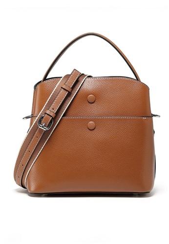 Twenty Eight Shoes brown VANSA Leather Portable Crossbody Bucket Bag VBW-Cb202015 87AA5ACE600941GS_1