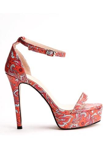 Glamorbit orange Sierra Batik High Heels B6C30SH91986D7GS_1