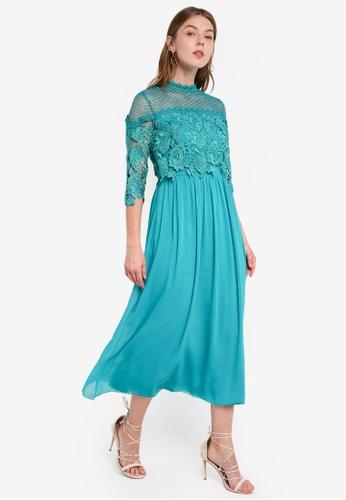 Little Mistress green Jade Crochet Dress 91B62AAF5842F8GS_1