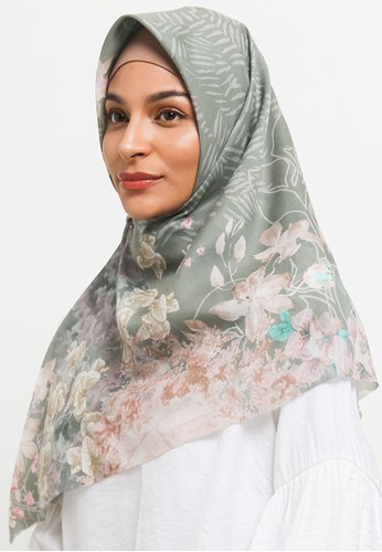 ARSSCARF green Zahwa Seaweed (Voal Square) 6AC09AA14485A4GS_1