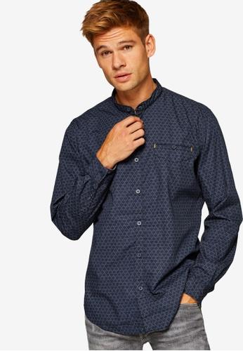 ESPRIT 黑色 Woven Long Sleeve Shirt E9535AAE838A66GS_1