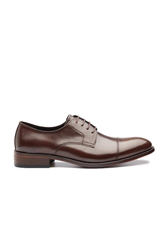 Kings Collection brown Norbert Cap Toe Derby Shoes F0D64SH29FCC7AGS_1