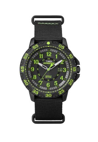 TIMEX green Timex Expedition® Gallatin - Black/Green Nylon Strap - Black Case (TW4B05400) TI857AC87LIISG_1