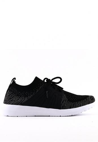 World Balance black Weave Flex MS Sneakers 8D171SH6E44CBCGS_1