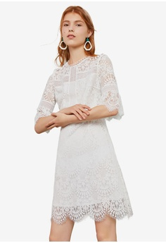 8bcc229db84a Hopeshow white Lace Design Dress FB58EAAC34CF4CGS 1
