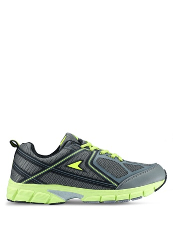 Power grey Athletic Running Shoes 15D77SH676129BGS_1