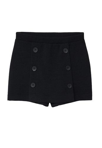 MANGO KIDS grey Textured High-Waist Shorts DF4EAKA2F303F3GS_1