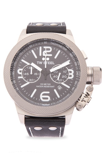 TW Steel black CS4 Canteen Leather Analog Watch TW310AC0KM9JPH_1