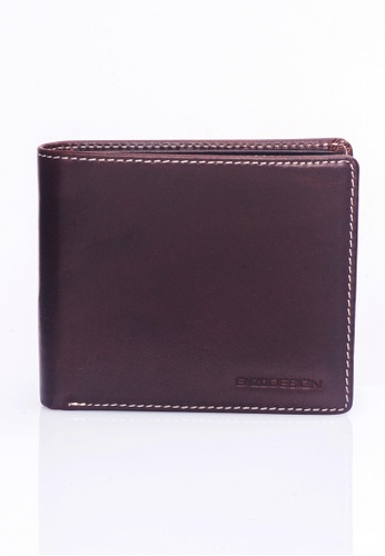 ENZODESIGN brown Italian Leather Coin Box Wallet EN357AC0F598SG_1