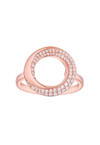 Vedantti pink Vedantti 18K The Circle Slim Ring in Rose Gold 87C6AACC24F0D9GS_1