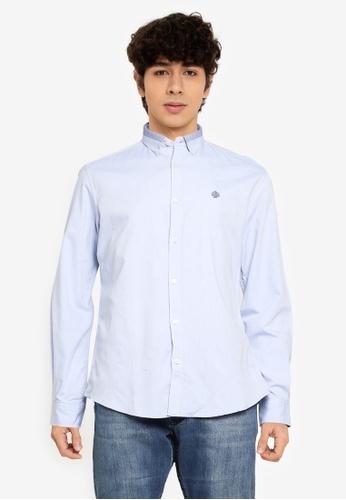 Springfield blue Pinpoint Shirt D948DAA5F83FC2GS_1
