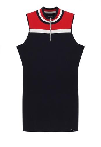 SUPERDRY navy Edit Zip Mini Knit Dress 845CEAAD71CB65GS_1