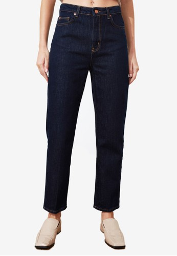 Trendyol navy High Waist Mom Jeans 42814AAF3B86D5GS_1