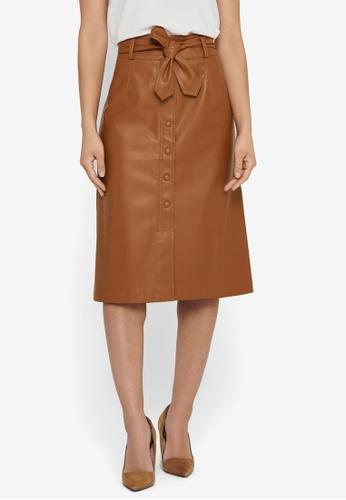 ONLY brown Nanna Below Knee Skirt B9CBCAA7D62D9CGS_1