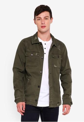 Hollister green Twill Shirt Jacket 01588AAC0D8813GS_1