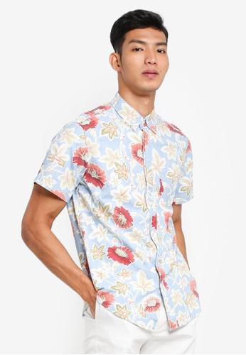 J.Crew 多色 花卉短袖襯衫 B694FAA1F43159GS_1