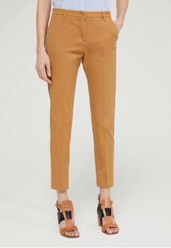 Sisley brown Slim Fit Chinos 8A503AAB8039C9GS_1