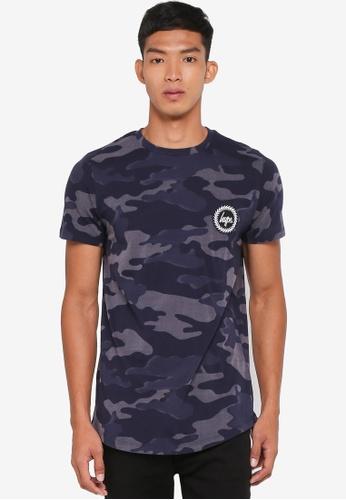 Just Hype navy Laser Camo T-Shirt 02DF7AAA779A91GS_1