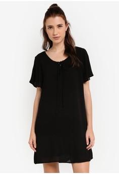 【ZALORA】 短袖洋裝