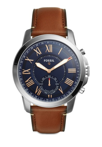 Fossil brown Fossil Q Grant Brown Leather Smart Watch FO164AC16ZFJMY_1