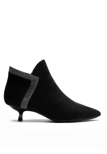 Twenty Eight Shoes black Synthetic Suede Ankle Boots 1592-2 477F6SH355A2ACGS_1