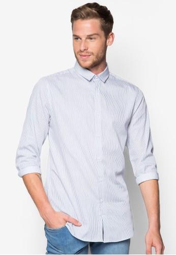 條紋長袖襯衫, 服飾, esprit香港分店印花襯衫