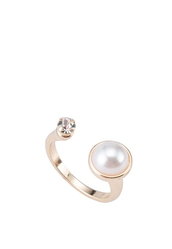 River Island gold Pearl And Gem Open Ring RI009AC33ZREMY_1