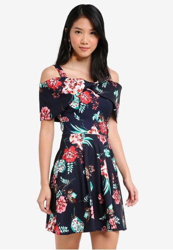 ZALORA multi Twisted Bow Front Floral Dress CFCF3AA83BEB22GS_1
