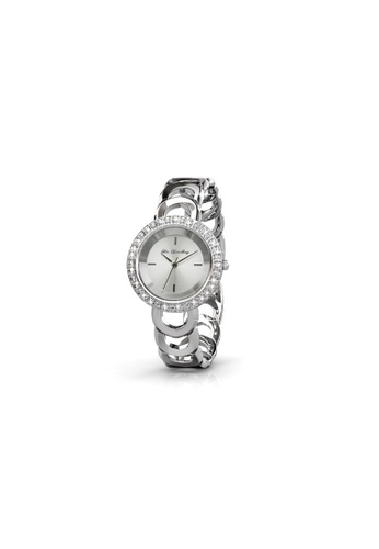 Her Jewellery silver Swarovski® Crystals - Caring Watch  (18K White Gold Plated) Her Jewellery HE581AC0RCB7MY_1