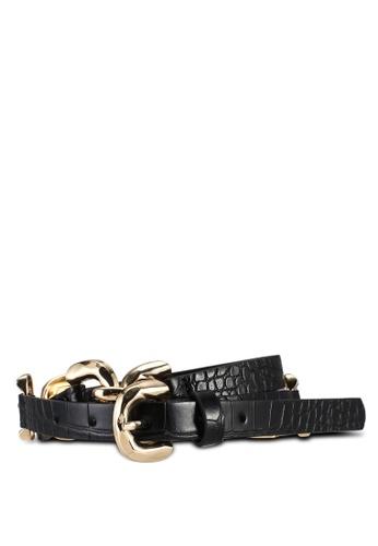 Pieces black Nille Waist Belt F962CAC0C64200GS_1